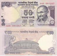 India - 50 Rupees 2012 UNC P. 104b Lemberg-Zp - India