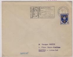 BRUYERES En VOSGES  (Vosges), 8 Avril 1955, Flamme, Air Pur / Forêts De Sapins / Séjour Agréable - 1921-1960: Modern Period