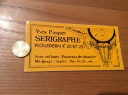 Ancien AUTOCOLLANT, Sticker «Yves Picquet - SERIGRAPHE - PLOUEDERN (29) » - Autocollants