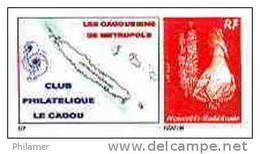 Nouvelle Caledonie Timbre Poste Personnalise Cagou Ramon Oiseau Rouge Prive Cagousiens France Neuf Avec Support 2009 Unc - Nueva Caledonia