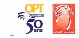 Nouvelle Caledonie Timbre Poste Personnalise 1er Public, Soit Tirage Officiel 50 Ans Opt Salon Collectionneur, 2008 TBE - Nueva Caledonia