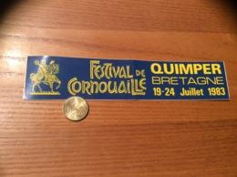 AUTOCOLLANT, Sticker «FESTIVAL DE CORNOUAILLE 1983 - QUIMPER (29) » (Cheval) - Autocollants