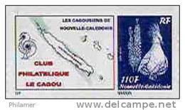 Nouvelle Caledonie Timbre Poste Personnalise Cagou Ramon Oiseau Bleu Prive Cagousiens De NC Neuf Avec Support 2009 Unc - Nueva Caledonia