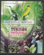 2017 Peru Sustainable Tourism Birds Oiseaux  Complete Souvenir Sjheet MNH - Peru