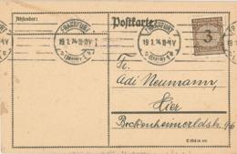 Frankfurt Main 1924 - Karte An Adi Neumann [= Schatzalp Zauberberg] Nachricht W/Faust II - Germany