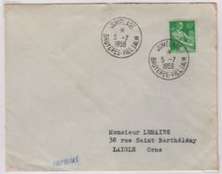 BRUYERES  (Vosges), VIELSALM (Luxembourg) Jumelage 5 Juillet 1959, Oblitération Temporaire - 1921-1960: Modern Period