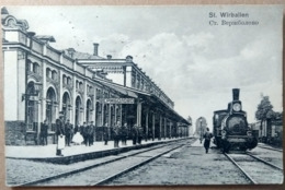 VIRBALIS, WIRBALLEN, WIERZBOLÓW, 1912, Railway Station, Bahnhof, Gare - Lithuania