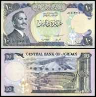 Jordan - 10 Dinars 1975 - 1992 AUNC Pick 20d Lemberg-Zp - Jordanien