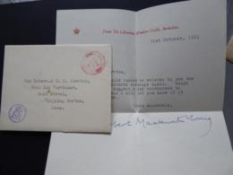 GREAT BRITAIN [UK]  POSTAL COVER   POSTMARK ER 1961 WINDSOR - Postmark Collection