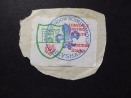 LONSDALE DISTRICT SCOUT CHRISMAS STAMP LABEL  POSTMARK CENTURION SCOUT GROUP HEYSHAM - Erinofilia