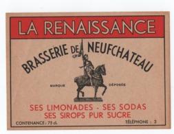 ETIQUETTE. NEUFCHATEAU (88) BRASSERIE De NEUFCHATEAU. LA RENAISSANCE. - Bière