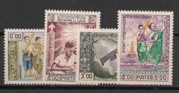 Laos - 1959 - N°Yv. 59 à 62 - Beaux-arts & Education - Neuf Luxe ** / MNH / Postfrisch - Laos