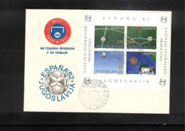 Jugoslawien / Yugoslavia 1982 85 Years Of Football In Serbia Interesting Cover - Fussball