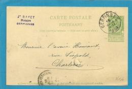 Entier Met Stempel GERPINNES - Stamped Stationery