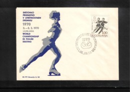 Jugoslawien / Yugoslavia 1970 Ljubljana World Figure Skating Championship Interesting Cover - Eiskunstlauf