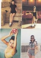 4  CARTES  CPM PUB KOOKAI PRINTEMPS/ETE  1992 FEMME - Moda