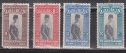 EGYPT Scott # 115-8 MH - Prince Farouk - Unused Stamps