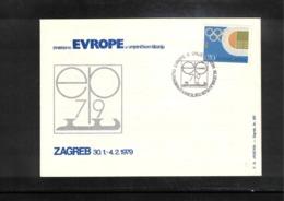 Jugoslawien / Yugoslavia 1979 Zagreb European Figure Skating Championship Interesting Cover - Eiskunstlauf