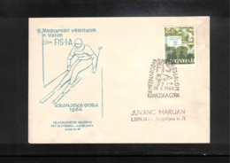 Jugoslawien / Yugoslavia 1964 Kranjska Gora International Skiing Tournament Interesting Cover - Ski