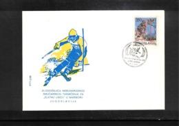 Jugoslawien / Yugoslavia 1988 Maribor 25 Years Of Zlata Lisica Skiing Tournament Interesting Cover - Ski