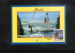 Jugoslawien / Yugoslavia 1988 Maribor 25 Years Of Zlata Lisica Skiing Tournament Interesting Postcard - Ski