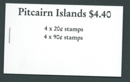 Pitcairn Islands 1990 $4.40 Booklet With New Watermark Ship Panes, Complet , Very Fine - Stamps