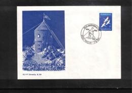 Jugoslawien / Yugoslavia 1985 90 Years Of Aljaz Tower On The Mountain Triglav Interesting Cover - Bergsteigen