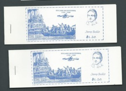 Pitcairn Islands 1990 $1.20 Bicentennial Booklets X 2 With Different Panes Of 3 X 40c Bounty Stamps , London Stamp World - Stamps