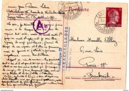 LEIPZIG - ENTIER POSTAL AVEC CENSURE - Correspondance D'un Prisonnier - Betriebslager III - BARACKENLEGER - 02.04.1944 - [6] República Democrática
