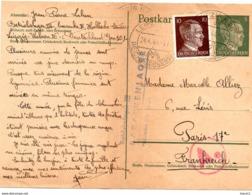 LEIPZIG - ENTIER POSTAL AVEC CENSURE - Correspondance D'un Prisonnier - Betriebslager III - BARACKENLEGER - 22.04.1944 - [6] República Democrática