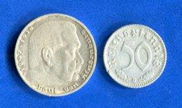 5  Mark  1937 G  + 50 Pf  1942 G - [ 4] 1933-1945 : Troisième Reich