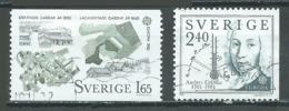 Suède YT N°1169/1170 Europa 1982 Faits Historiques Oblitéré ° - Europa-CEPT