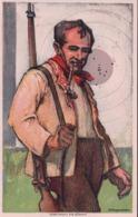 Suisse, Carte De La Société Des Carabiniers, Le Tireur Et Sa Cible, Illustrateur Hugentobler (625) - Waffenschiessen