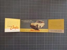 Cx 11) Portugal Publicidade FORD ANGLIA Automobilia 18X8cm - Voitures
