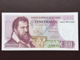BELGIUM P134 100 FRANCS 1971 AUNC - 100 Francs