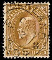 Falkland Island 1904-12 1s Brown Fine Used. - Falklandeilanden