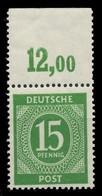 KONTROLLRAT ZIFFERN Nr 922a P OR Dgz Postfrisch ORA X819256 - Gemeinschaftsausgaben