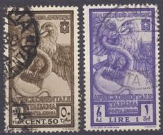 AFRICA ORIENTALE ITALIANA -  1938 - Serie Completa Di 2 Valori Usati: Yvert Posta Aerea 14/15, Come Da Immagine. - Africa Orientale Italiana