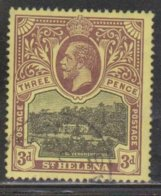 ST HELENA Scott # 66 Used - King George V & Government House - Saint Helena Island