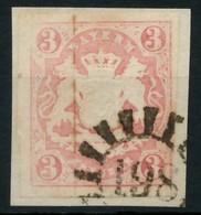 WAPPEN-AUSGABE 1867-1868 Nr 15 GMR 198 Zentrisch Gestempelt X87E4AA - Bayern