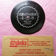 Old Vintage Thin Vynil Plate Dzuboks Jukebox Something' Stupid Nancy And Frank Sinatra  Parlaphone - Special Formats
