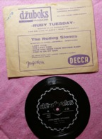 Old Vintage Thin Vynil Plates Jukebox The Rolling Stones Ruby Tuesday Decca - Special Formats