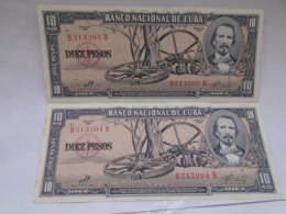 Cuba, 10 Pesos 1960, Signature By Ernesto Che Guevara, Consecutive, Crisp, UNC. - Cuba