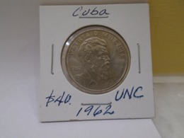 Cuba, $40 Centavos 1962, Camilo Cienfuegos, Brilliant, UNC. Beautiful. - Cuba