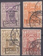ARABIA SAUDITA, Regno Di Hedjaz - 1925 - Lotto Composto Da 4 Valori Usati: Yvert Segnatasse 16/19. - Arabia Saudita