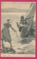 Palestine Trades - Galilean Fishermen  - Artist Clark - Issued By The Scripture Gift Mission - Palästina