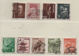 Japan 1952-54 MiNr.: 582-590; Gestempelt Flora, Fauna, Kulturschätze Used - 1926-89 Emperor Hirohito (Showa Era)
