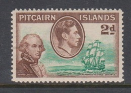 Pitcairn Islands  Scott 4 1940 Definitive  2d Mint Hinged - Stamps