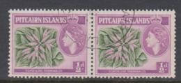 Pitcairn Islands  Scott 20 1957 Queen Elizabeth II ,half Penny Pair,used - Stamps