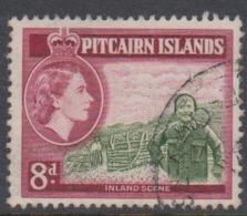 Pitcairn Islands  Scott 27 1957 Queen Elizabeth II 8d,used - Stamps